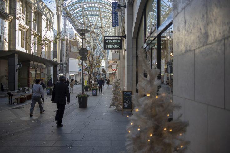 高松市アーケード街のクリスマス