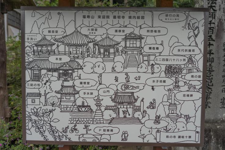 最明寺境内案内図