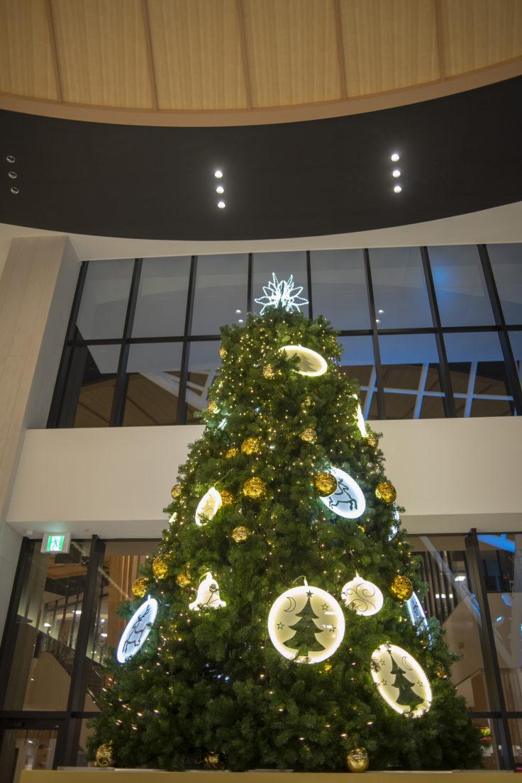 イオンモール徳島のクリスマスツリー