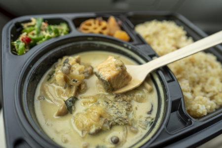 朔日の秋鮭としめじの味噌ココナッツ3