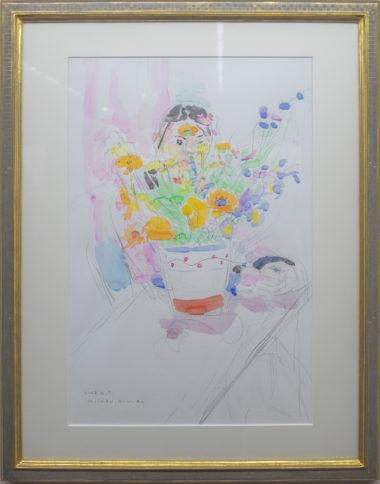 木村美鈴「花の中の顔」