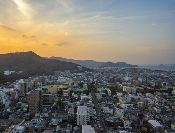 香川県庁21階西側夕焼け