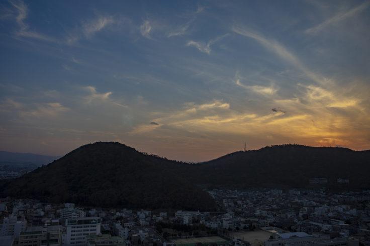 香川県庁21階南側夕焼け