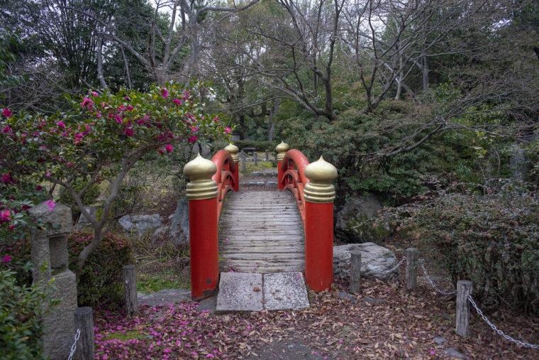 伏見桃山城内の朱橋