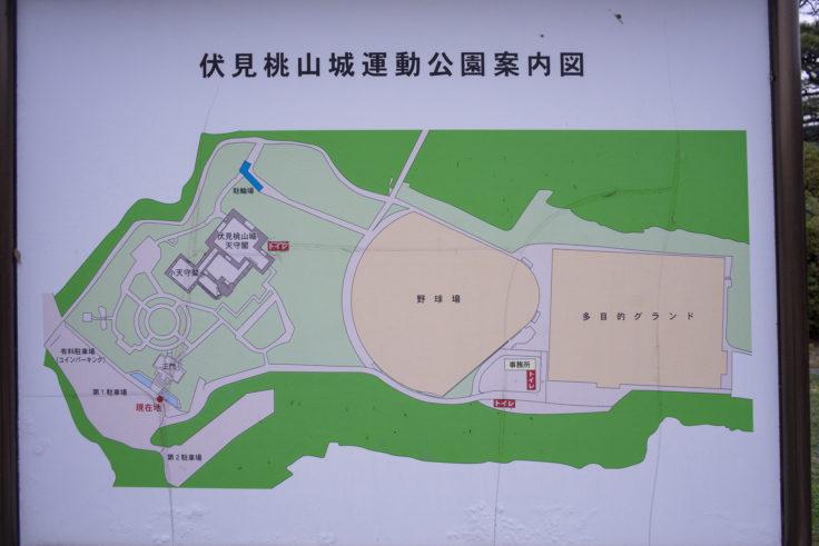 伏見桃山城マップ