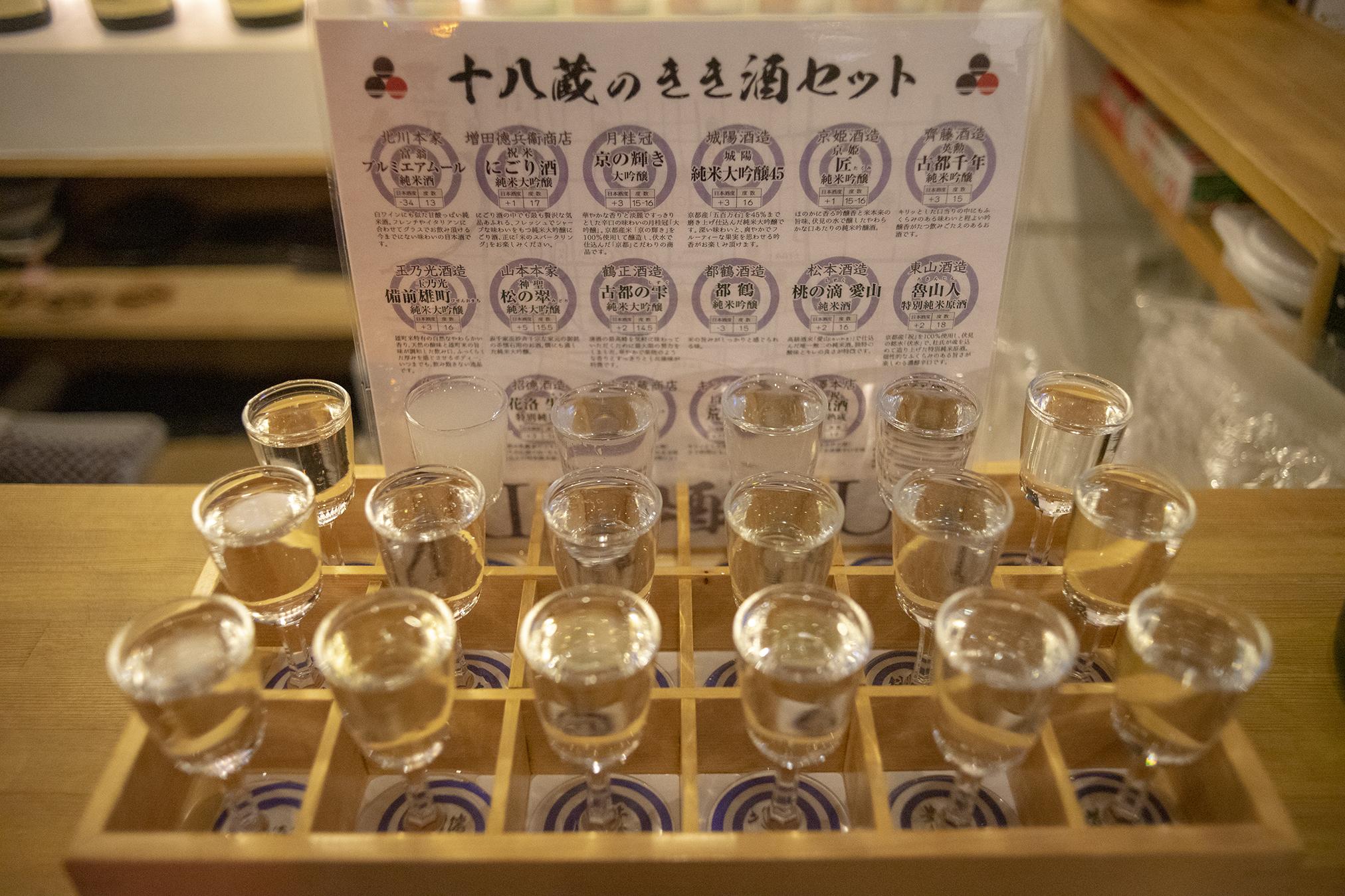 伏水酒蔵小路『十八蔵のきき酒セット「粋酔(きっすい)」』で日本酒の新たな楽しみ方を発見