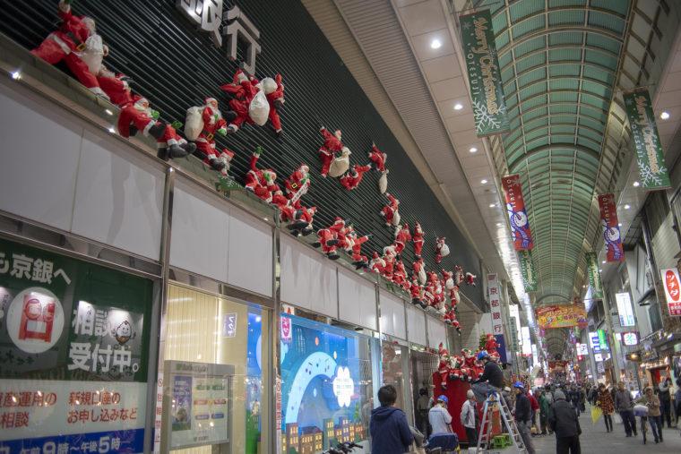 伏見大手筋商店街のクリスマス