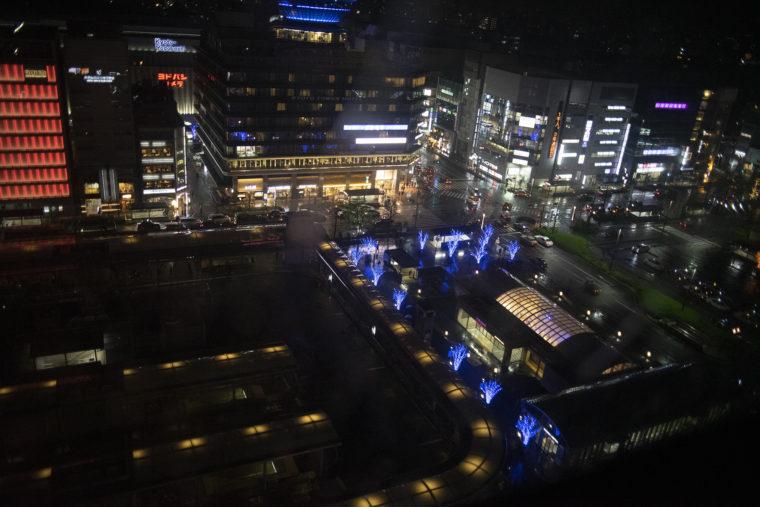 京都駅バス乗り場のイルミネーション