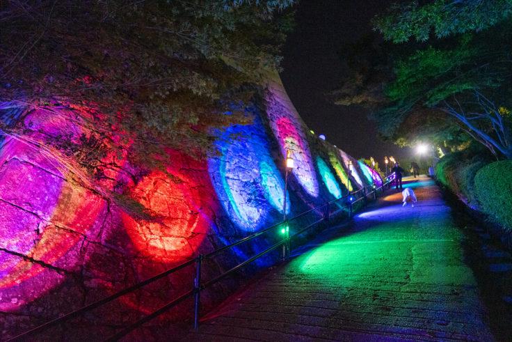 丸亀城ライトアップ