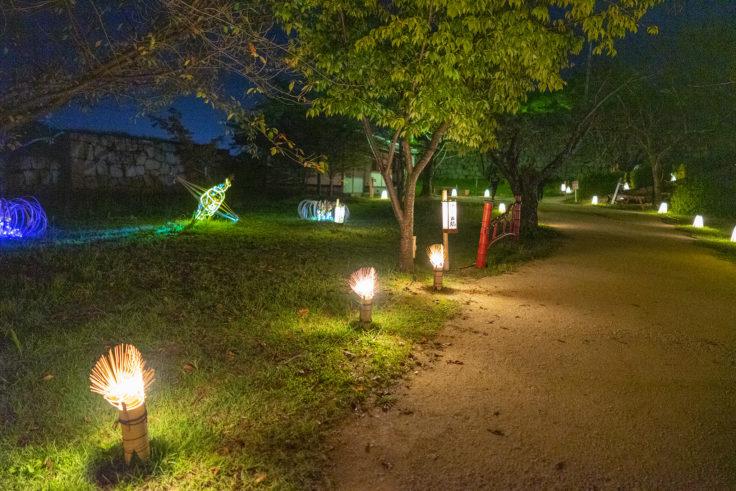 丸亀城うちわのイルミネーション2