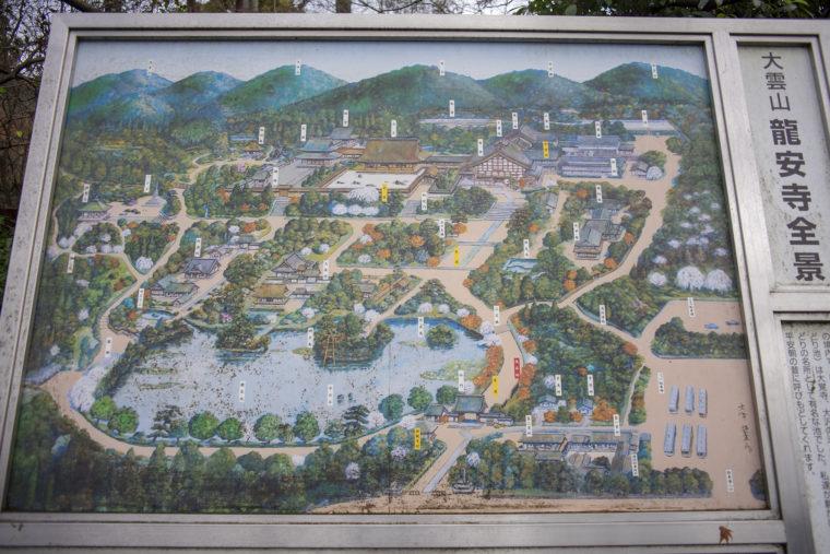 龍安寺マップ
