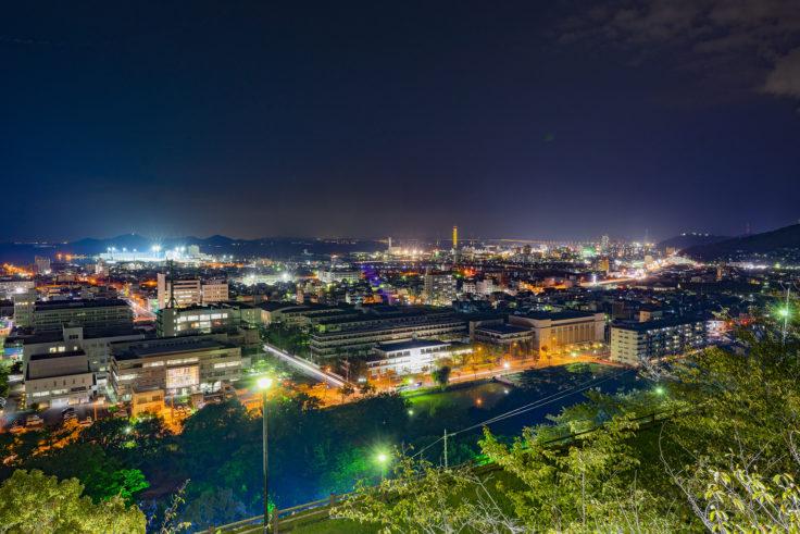 丸亀城から見た夜景2