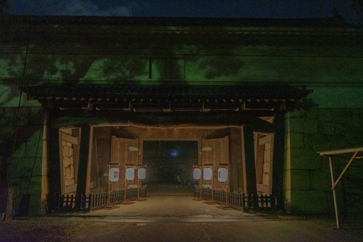 丸亀城キャッスルロード大手一の門