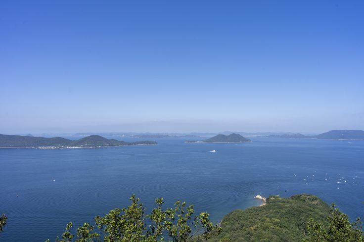 長崎屋島北嶺線から見える瀬戸内海