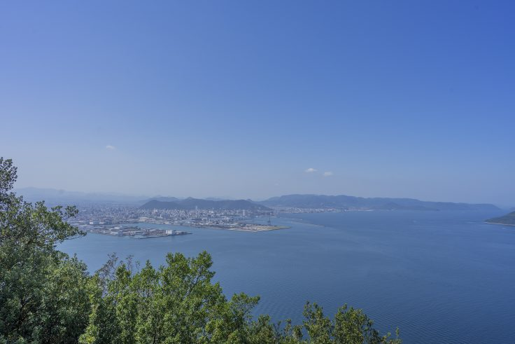 遊鶴亭から見た瀬戸内海2