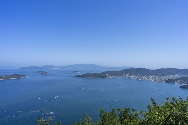 遊鶴亭から見た瀬戸内海1