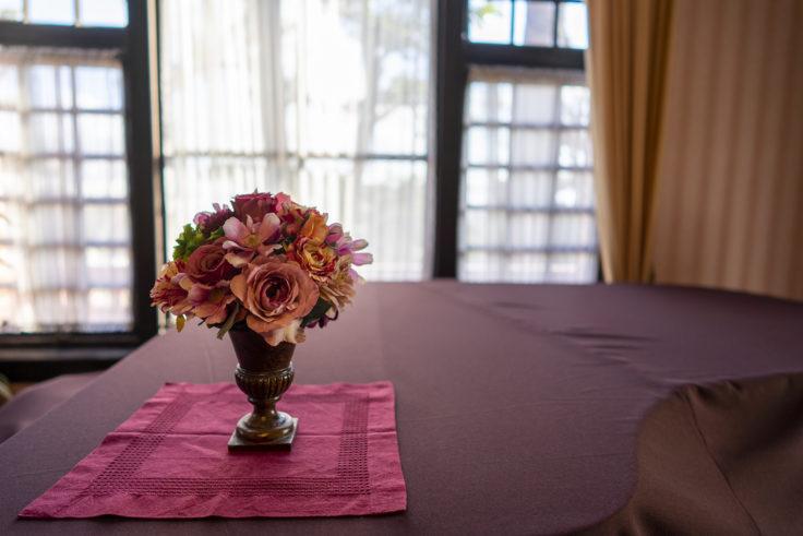 神戸異人館街風見鶏の館飾られた花