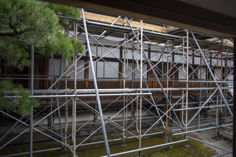 仁和寺の宸殿工事中