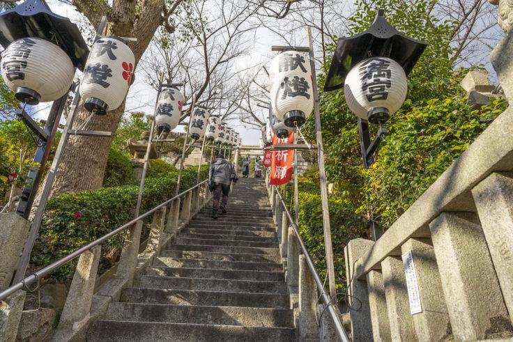 北野天満神社階段