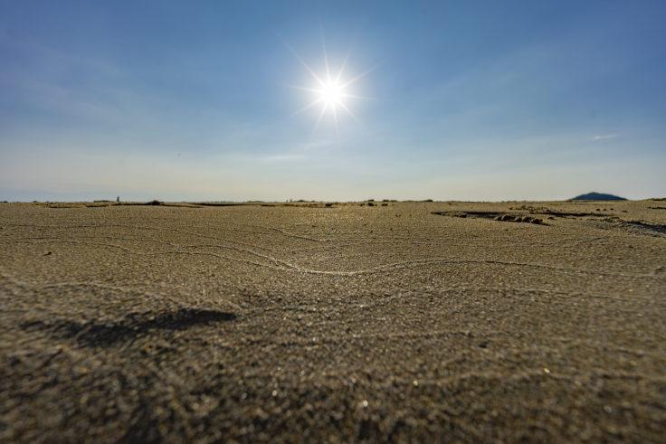 父母ヶ浜の砂浜