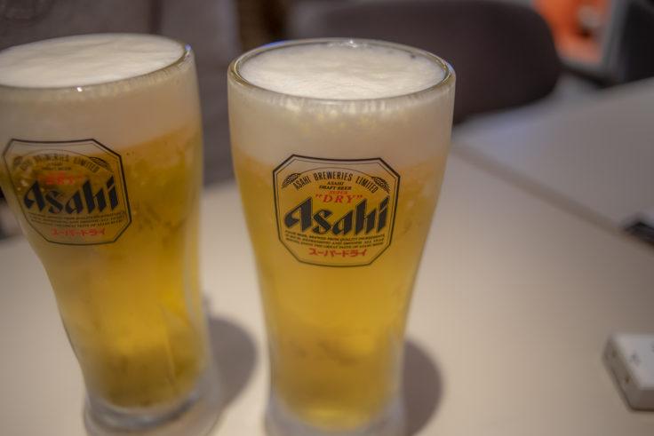 鳥せい京都タワーサンド店のビール