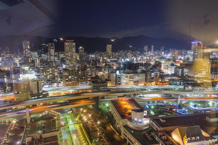 神戸ポートタワーから北の夜景