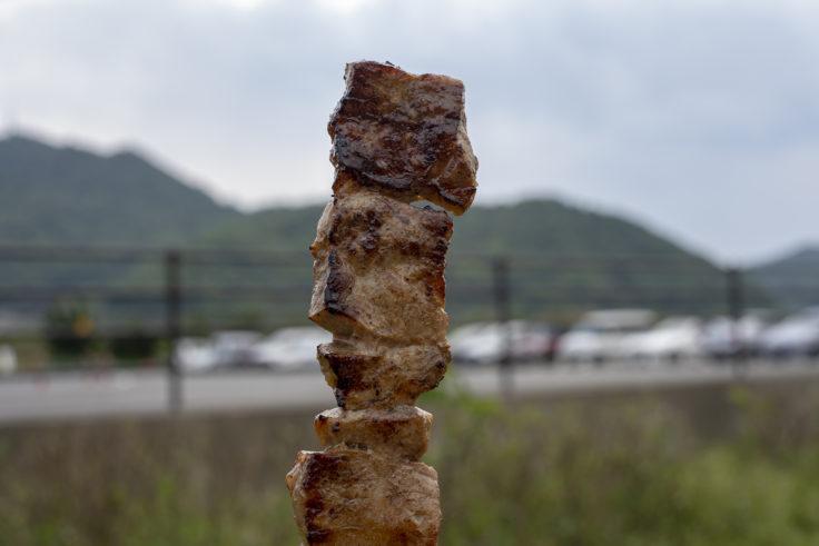 笠岡ベイファームの牛串