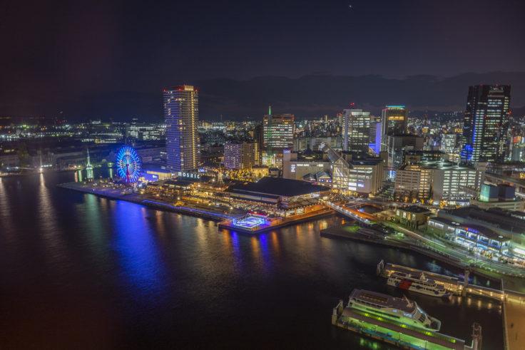神戸ポートタワーから南の夜景
