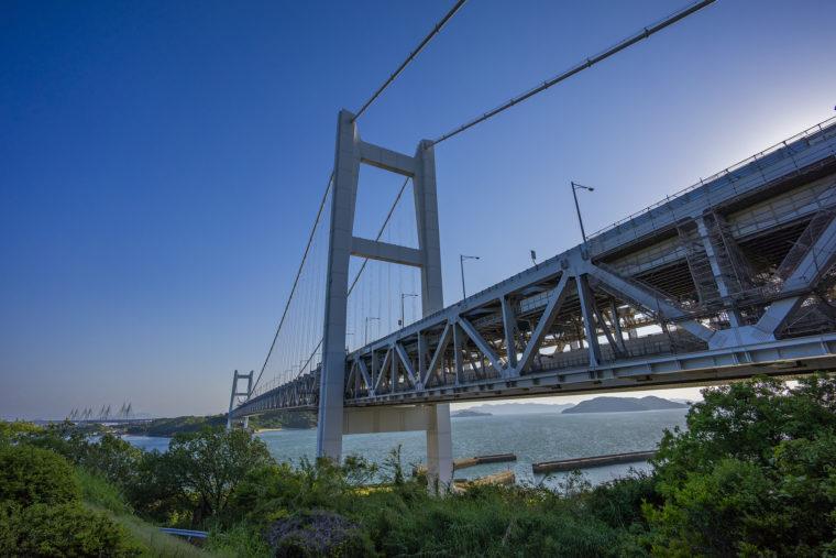 下津井から見た瀬戸大橋