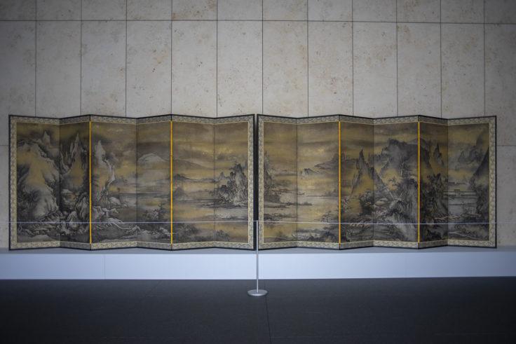四季山水図屏風