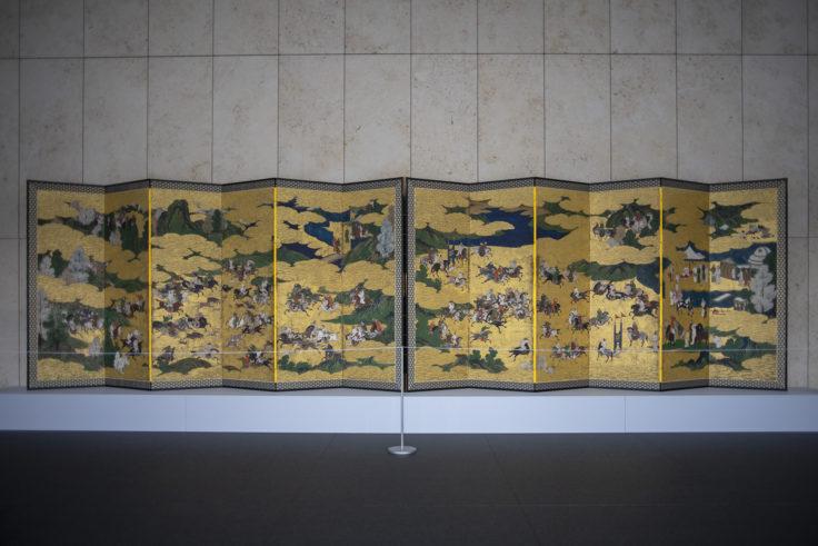 韃靼人狩猟・打毬図屏風