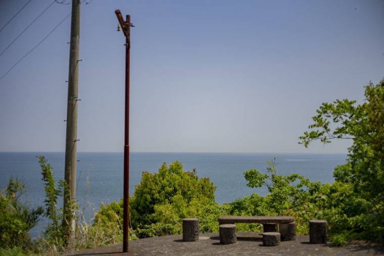 けぼ山こふんから見た海