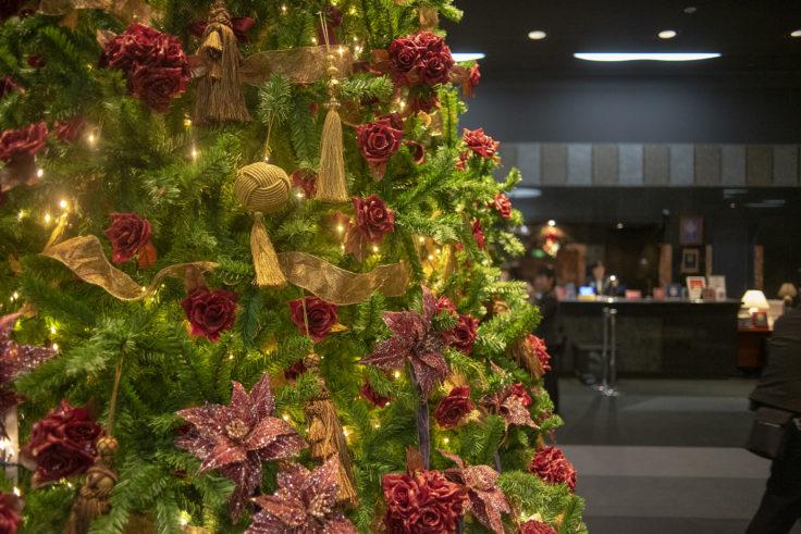 ホテルグランヴィア京都のクリスマスツリーアップ