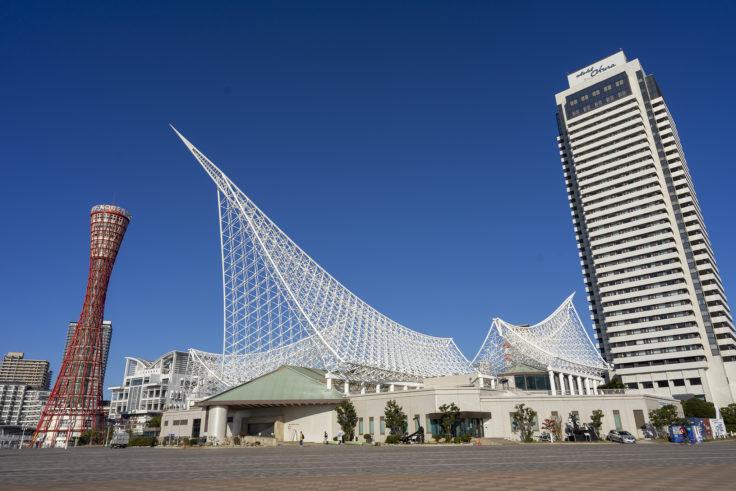 海洋博物館と神戸ポートタワー
