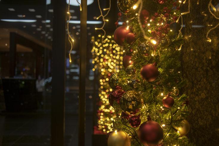 ホテルグランヴィア京都のクリスマスイルミネーション玉ボケ