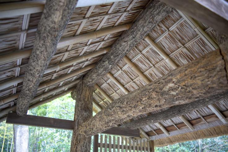 桂離宮御幸門の屋根