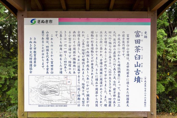 富田茶臼山古墳説明