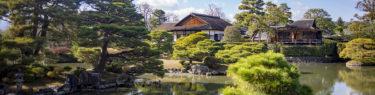 桂離宮松琴亭からの池