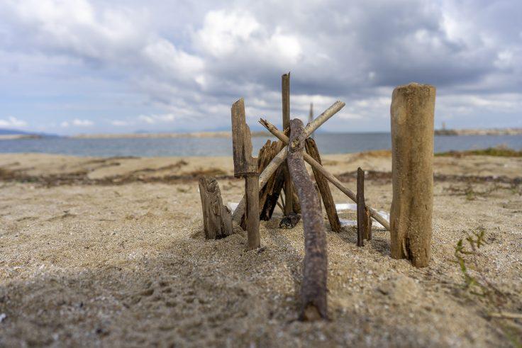 松原海岸のアート
