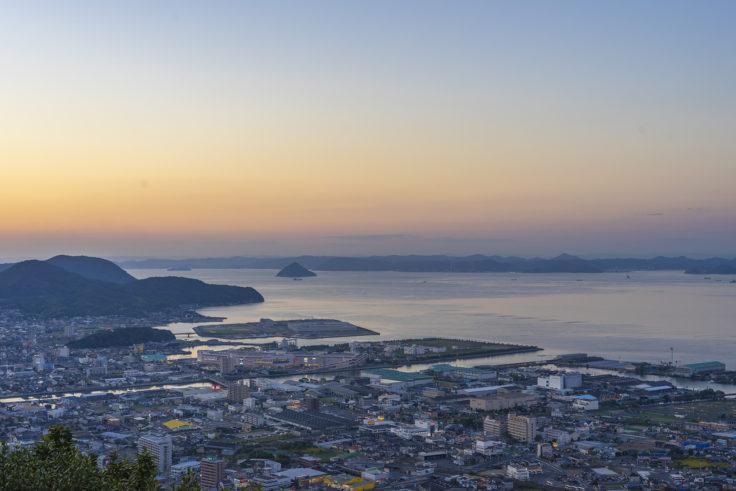 峰山展望台からの夕焼け