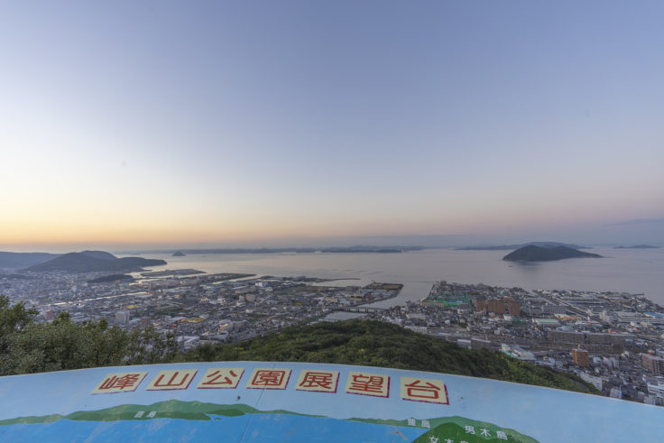 峰山展望台から見た瀬戸内海