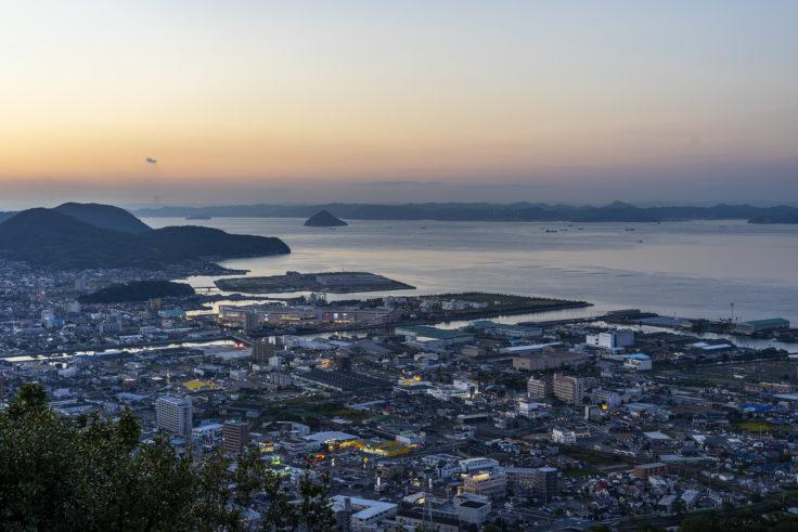 峰山公園展望台の夕焼け