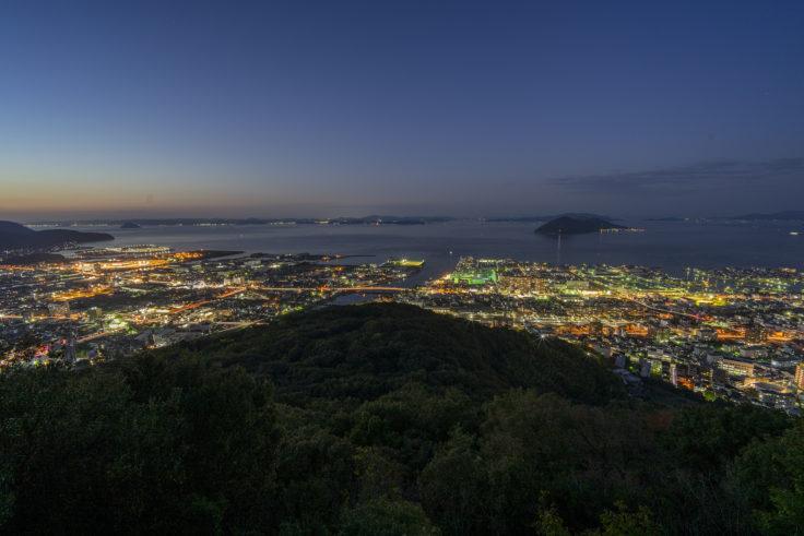 峰山公園展望台から見た高松の夜景2