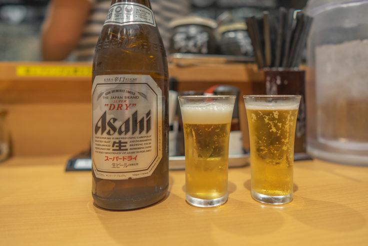 賀正軒でビール