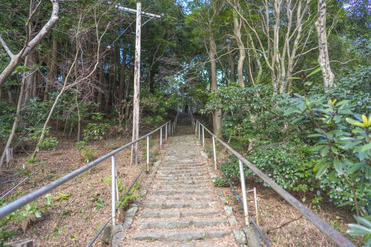 大麻比古神社の丸山社と丸山稲荷社までの階段