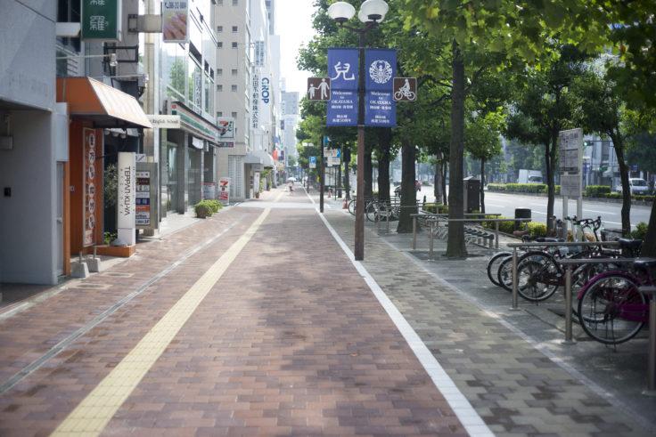 岡山駅から後楽園の道のり