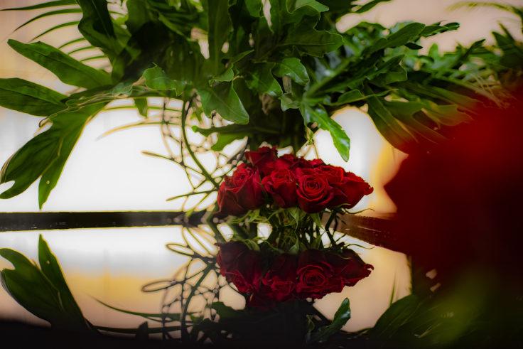 アオーレ長岡のバラ