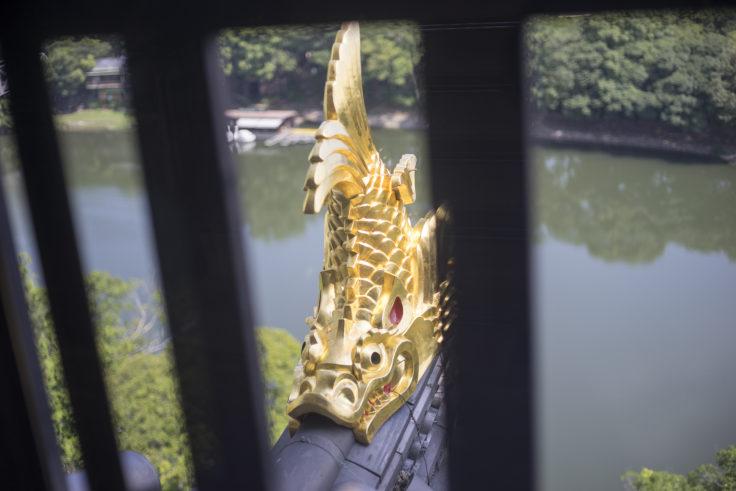 岡山城のシャチホコ