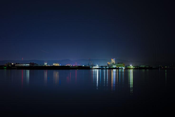 屋島西団地から高松シンボルタワーを撮影