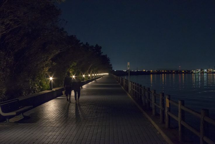 屋島団地横の遊歩道